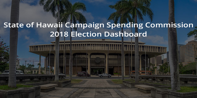 State of Hawaii Campaign Spending Commission 2018 Election Dashboard