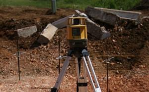 image of land survey equipment on tripod