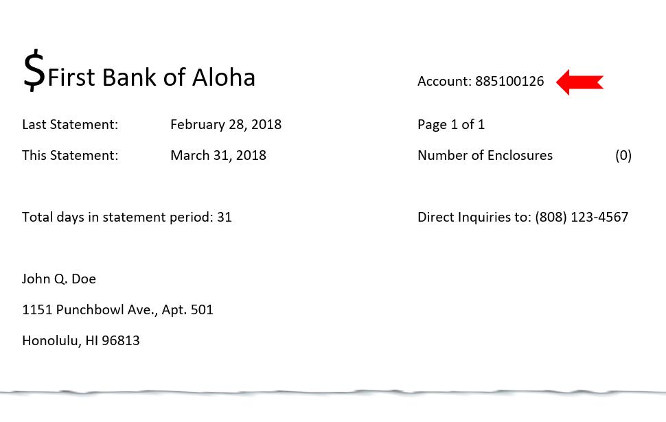 Bank Savings Statement Sample