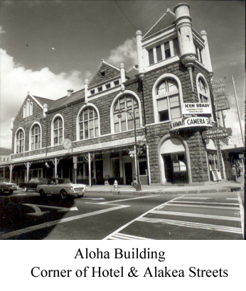 Aloha Building Corner of Hotel & Alakea Streets