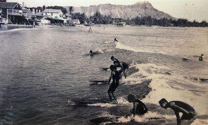 Surfers in Waikiki, circa 1920s