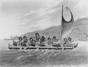 A Canoe of the Sandwich Islands, illustrated by J. Webber