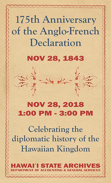 Celebrating the Diplomatic History of the Hawaiian Kingdom post thumbnail