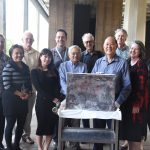 Members of the Capitol 50th Anniversary Committee with the Time Capsule