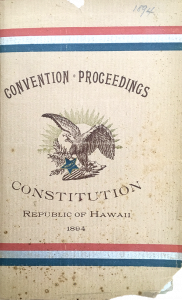1894 Constitutional Convention book cover
