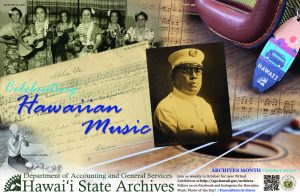 2020 Hawaii State Archives Poster, Celebrating Hawaiian Music, English version