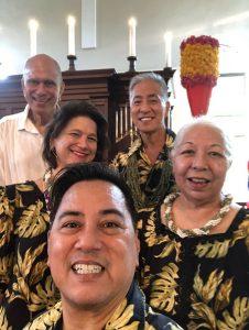 Buddy Nalua'i, Malia Ka'ai-Barrett, Nola A. Nāhulu, Phil Hidalgo, and Ross Taosaka